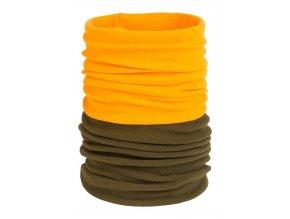 M-Tramp Winter Neck Gaiter - falošný golier oranžovo/zelený - SAP01315