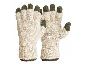 M-Tramp Twin Gloves - rukavice biela-zelená - SAP00219