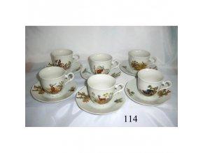 Kávová súprava poľovnícky motív - 114