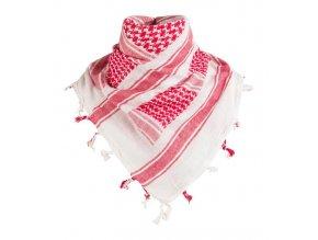 Shemagh - šatka - bielo-červená - SAP00099