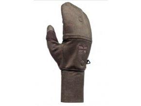 Windproof flap gloves lovecké rukavice s klopou - Dub