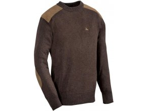man sweater ligne verney carron fox rond brown z 1095 109547