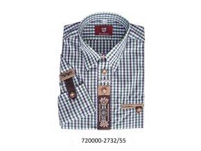 Pánska košeľa s výšivkou-olivová - 920000-2732/55