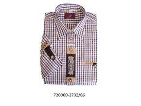Pánska košeľa s výšivkou- hnedá - 920000-2732/66
