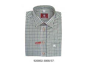 Pánska košeľa tmavo zelená - 920002-3000/57