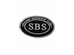 Nášivka SBS ovál biela 001