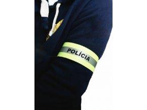 Reflexný pásik textilný s nápisom POLÍCIA 40 cm