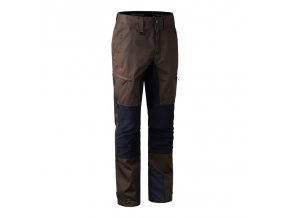 deerhunter rogaland contrast trousers brown nohavice