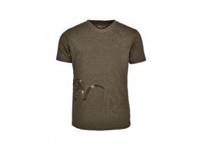 118011 006 555 Blaser V T Shirt oliv frontal 4C A4 438x582