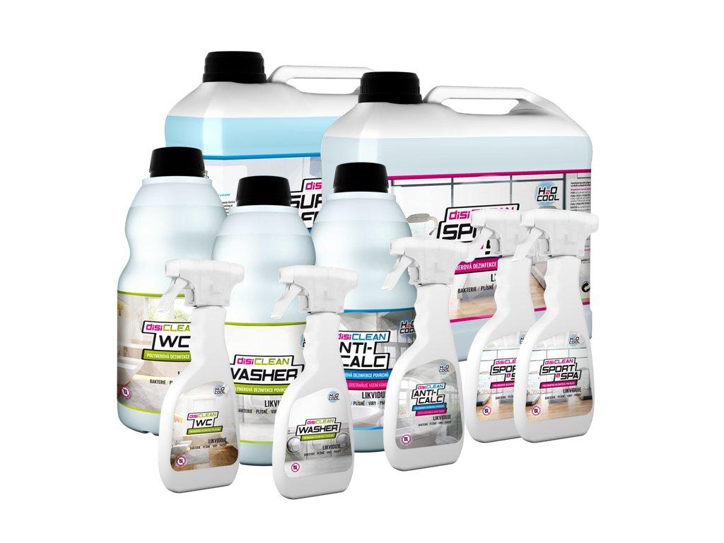Kompletná SPORT & SPA sada na čistenie a dezinfekciuv stredne veľkých prevádzkach - H2O-COOL.SK