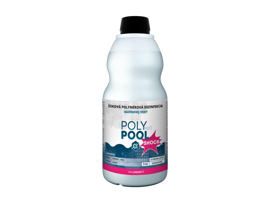 Bezchlórová šoková dezinfekcia bazénovej vody POLY H2O POOL SHOCK 1L - POLYMPT.SK