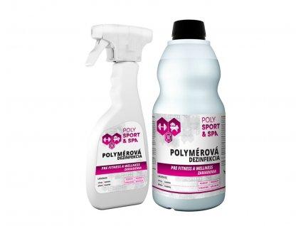 Sada rozprašovačov a náhradnej náplne na dezinfekciu strojov na cvičenie - POLYMPT.SK
