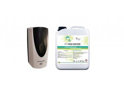 Sada bezdotykový dávkovač s antibakteriálnym gélom - POLYMPT.SK