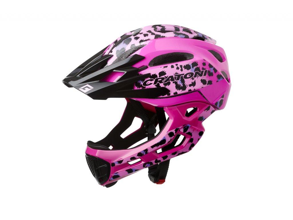 Cratoni C-MANIAC Pro - leo-pink glossy