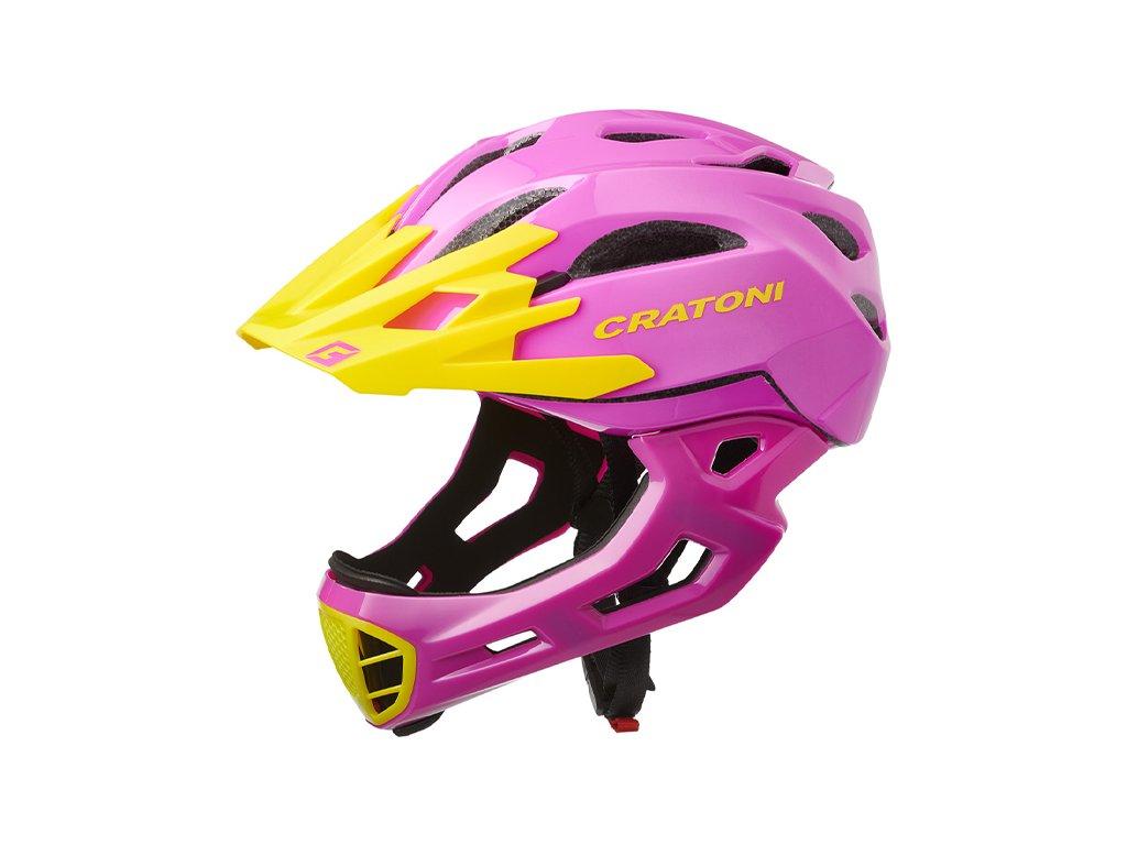 Cratoni C-MANIAC - pink-yellow glossy