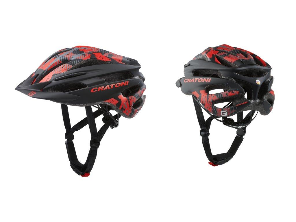 Cratoni PACER JR. - black-red matt