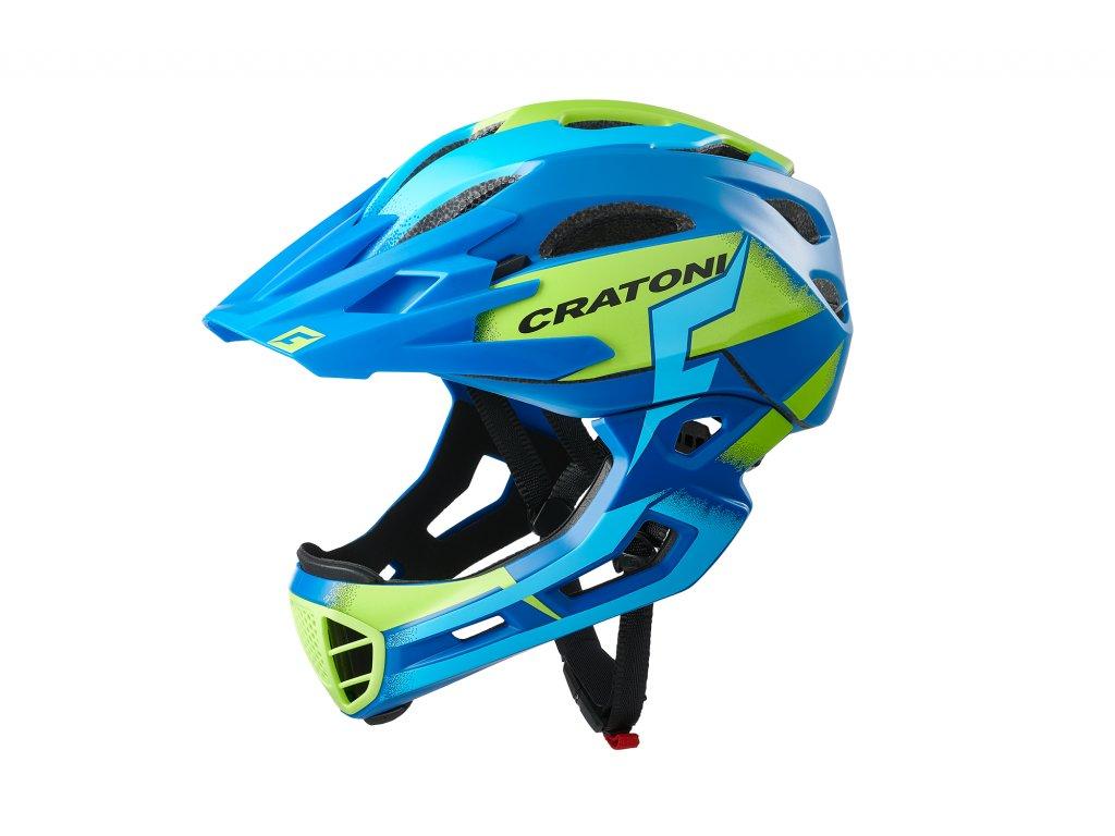 Cratoni C-MANIAC Pro - blue-lime matt