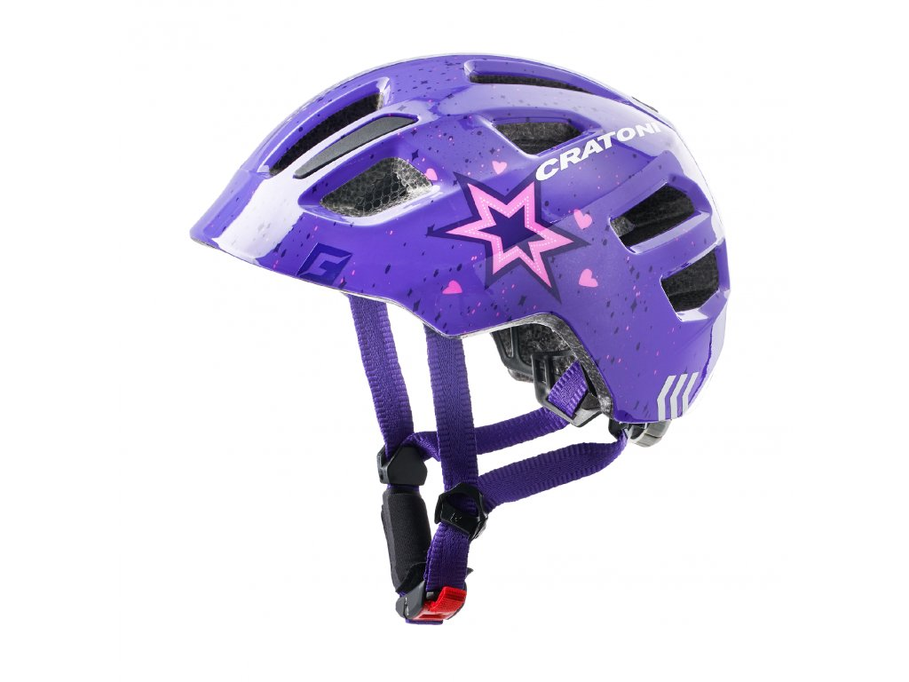 Cratoni Maxster star purple glossy