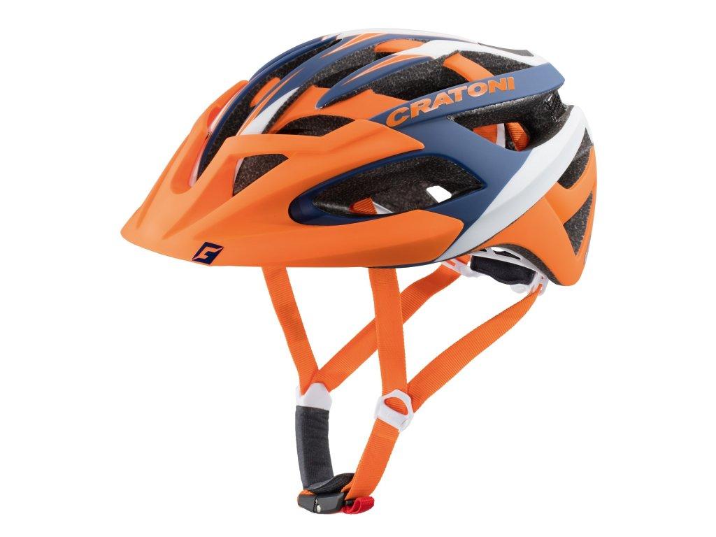Cratoni C-Hawk orange-blue-white rubber