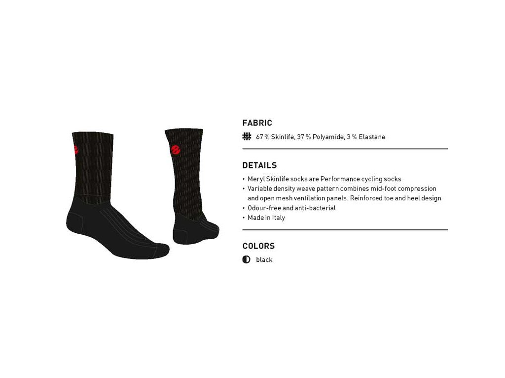 Ghost Ponožky vysoké - Black
