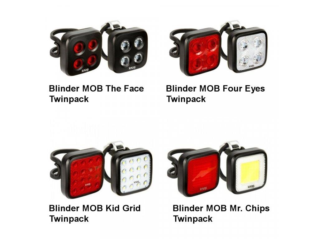 KNOG Blinder MOB Twinpack - Sada přední + zadní světlo