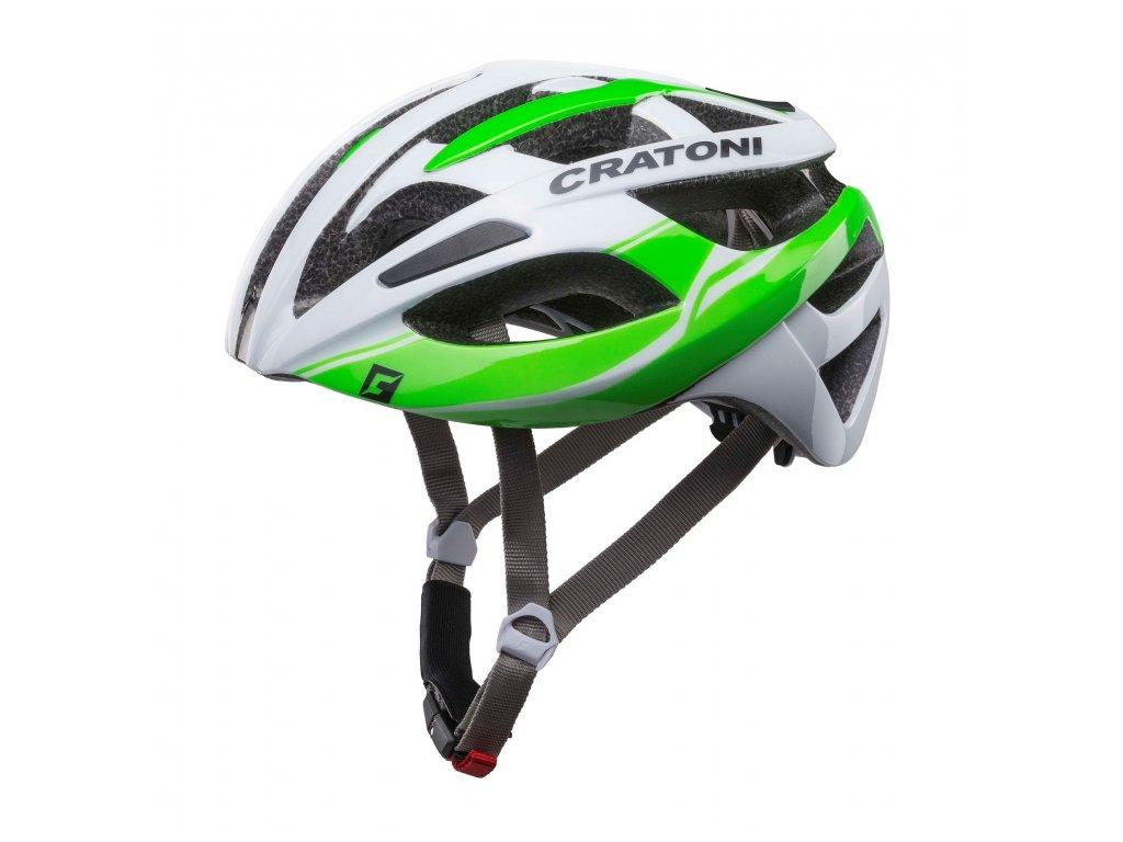 Cratoni C-Breeze white-green glossy