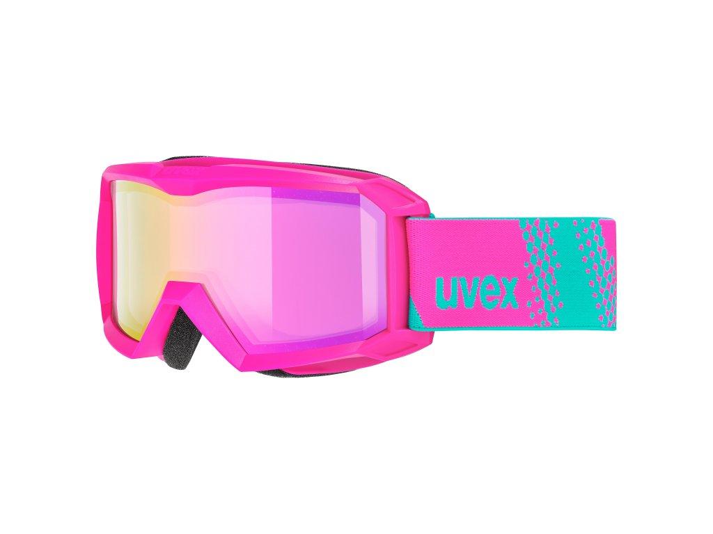 lyžařské brýle UVEX FLIZZ FM, pink dl/pink clear-rose (9030) Množ. Uni