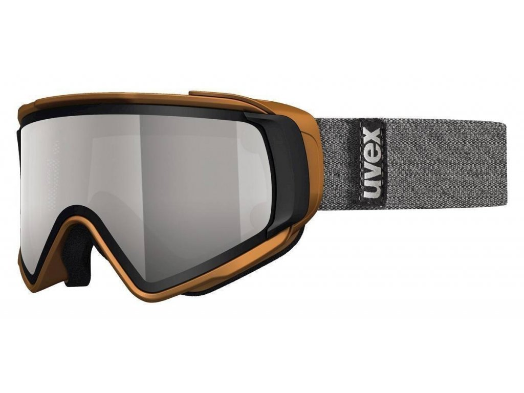 lyžařské brýle UVEX JAKK TAKE OFF POLA, copper mat double lens/polavision litemirror silver/clear (8026) Množ. Uni