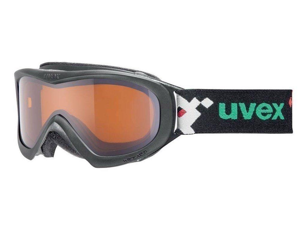 lyžařské brýle UVEX WIZZARD DL, black pacman double lens/lasergold (2722) Množ. Uni