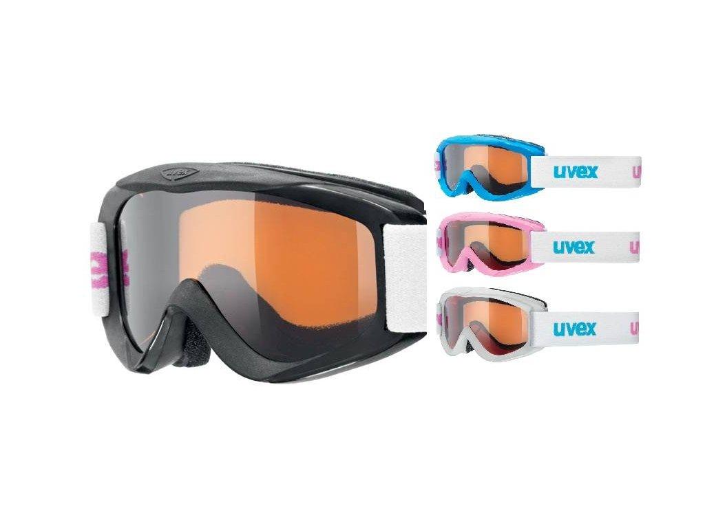 lyžařské brýle UVEX SNOWY PRO SET-12 ks, polarwhite/black/iceblue/pink Množ. Uni