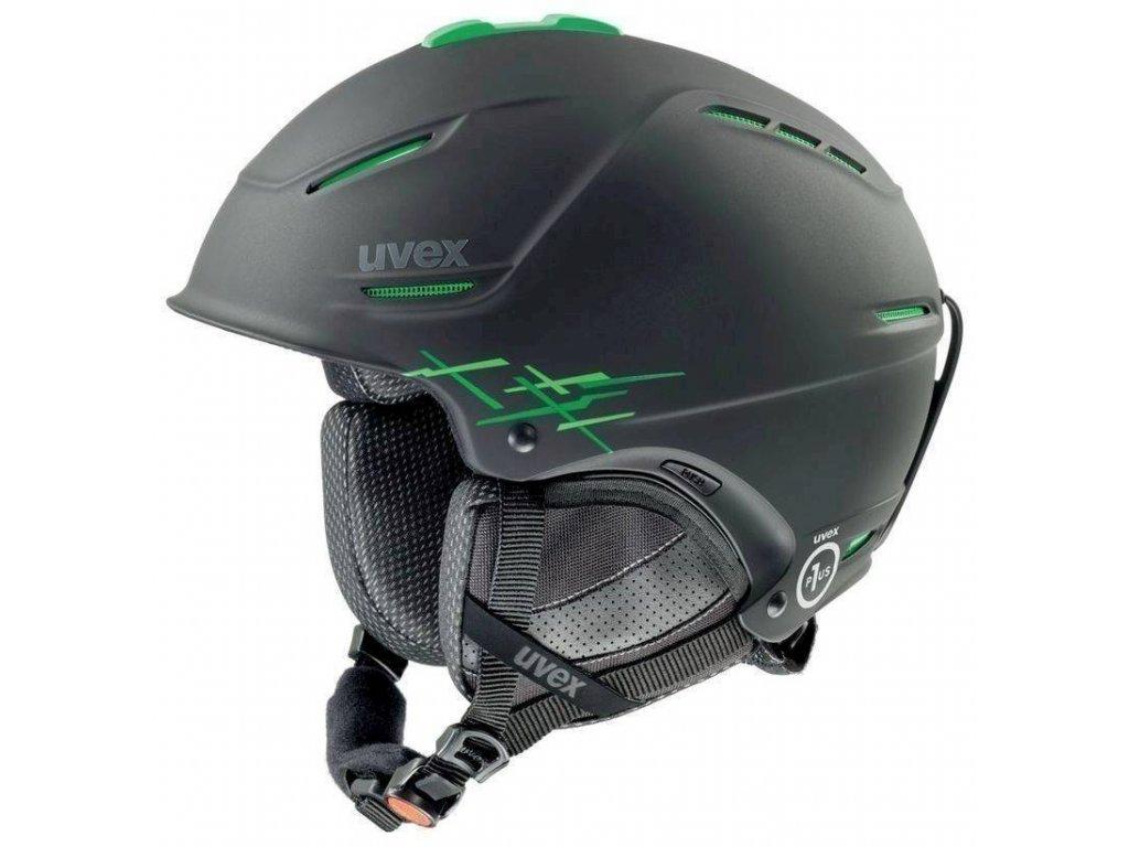 helma UVEX P1US PRO, black-green mat (S566156270*) 52-55