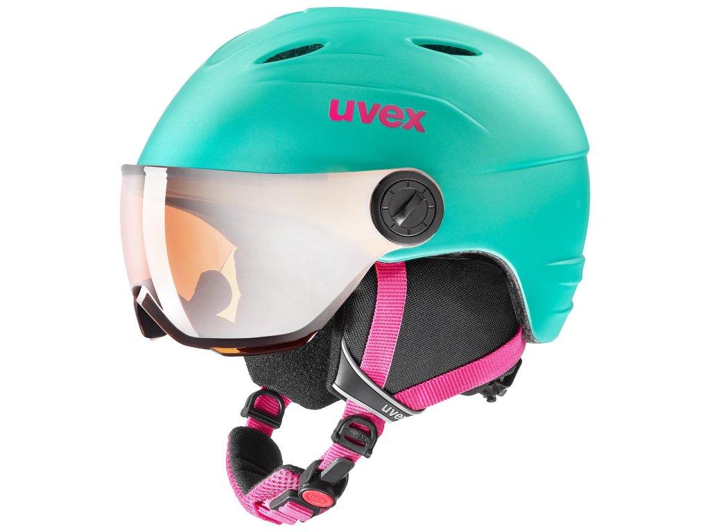 helma UVEX JUNIOR VISOR PRO, mint mat (S566191700*) 52-54