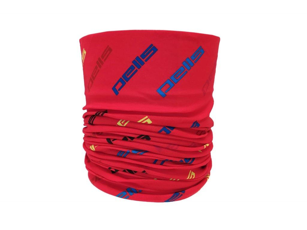 PELLS multifunkční šátek červený