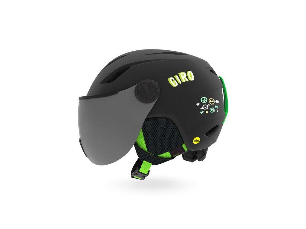 GIRO Buzz MIPS Mat Black/Bright Green Alien XS