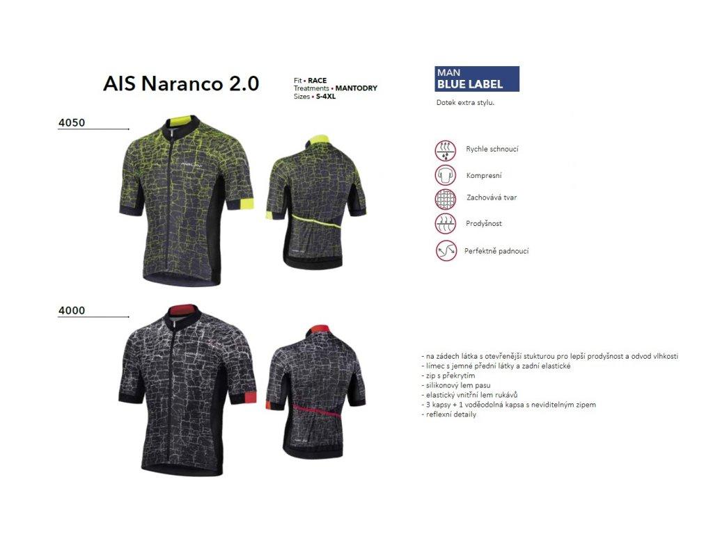 DRES AIS NARANCO 2.0 ČERNÁ/ČERVENÁ
