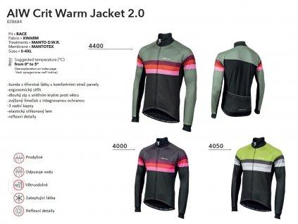 Bunda AIW Crit Warm Jacket 2.0 - Grey
