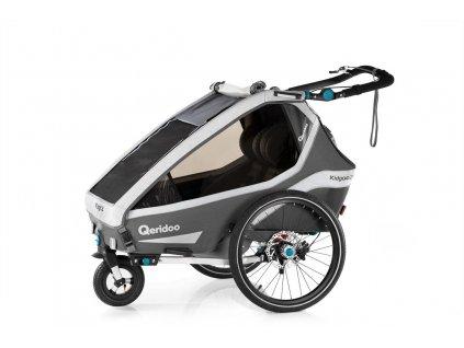 Qeridoo Vozík Kidgoo2 Sport - Anthracite Grey