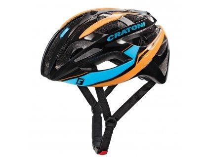 Cratoni C-Breeze black-blue-orange glossy