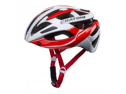 Cratoni C-Breeze white-red glossy