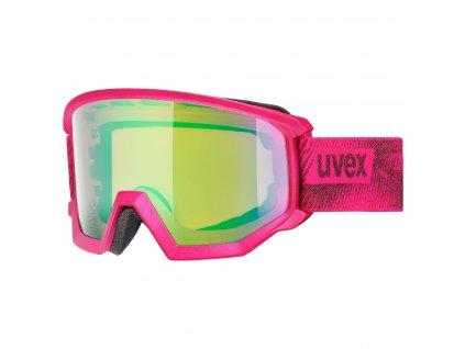 lyžařské brýle UVEX ATHLETIC CV, pink mat SL/green-orange (9030) Množ. Uni