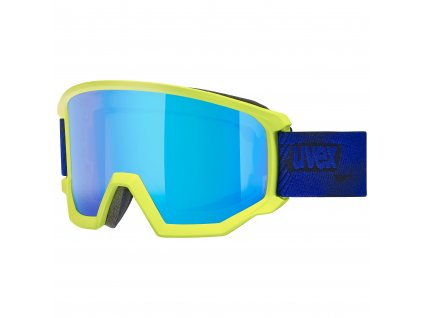 lyžařské brýle UVEX ATHLETIC CV, lime mat SL/blue-green (7030) Množ. Uni