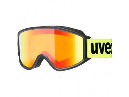 lyžařské brýle UVEX G.GL 3000 CV, black mat SL/mirror orange (2230) Množ. Uni