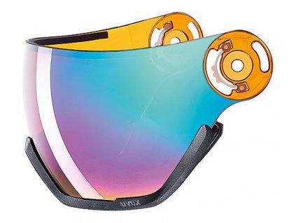 náhradní skla UVEX HLMT 400 VISOR ess lgl, ltm rainbow Množ. Uni