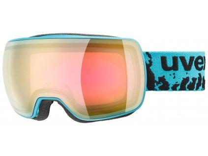 lyžařské brýle UVEX COMPACT FM, petrol mat dl/mirror pink orange (7030) Množ. Uni