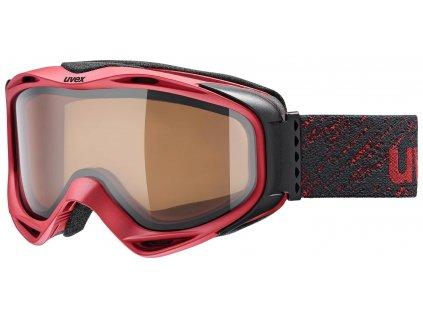 lyžařské brýle UVEX G.GL 300 POLA, dark red mat double lens/pola/clear (3030) Množ. Uni