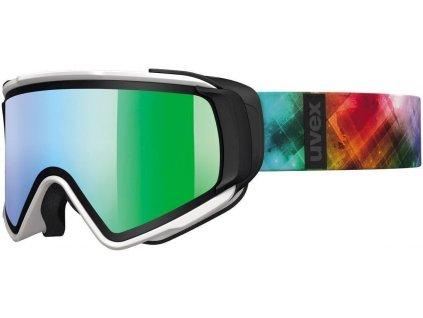 lyžařské brýle UVEX JAKK TAKE OFF, white mat/litemirror green (1226) Množ. Uni