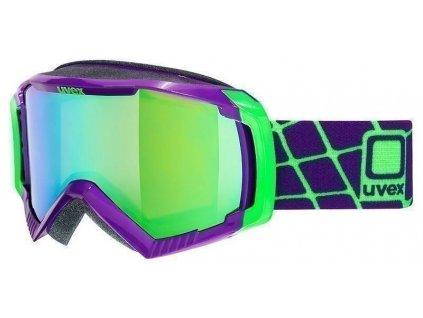 lyžařské brýle UVEX G.GL 100, dark purple/litemirror green (9926) Množ. Uni