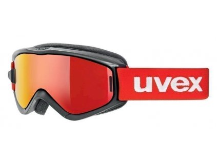 lyžařské brýle UVEX SPEEDY PRO TAKE OFF, black-red/litemirror red (2026) Množ. Uni