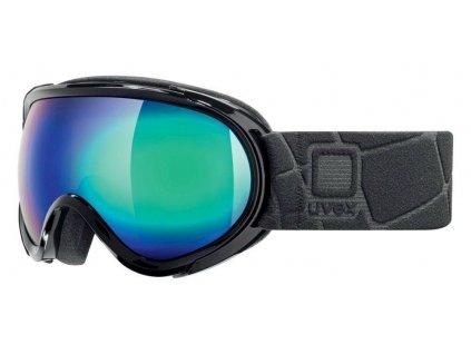 lyžařské brýle UVEX G.GL 7, black/litemirror green (2026) Množ. Uni