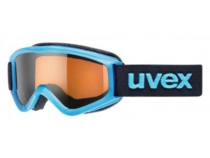 lyžařské brýle UVEX SPEEDY PRO, blue/lasergold (4012) Množ. Uni